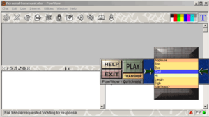 A screenshot of PowWow, one of the first  instant messengers with a graphical user interface