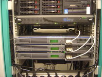 "An example of ""rack mounted"" servers."